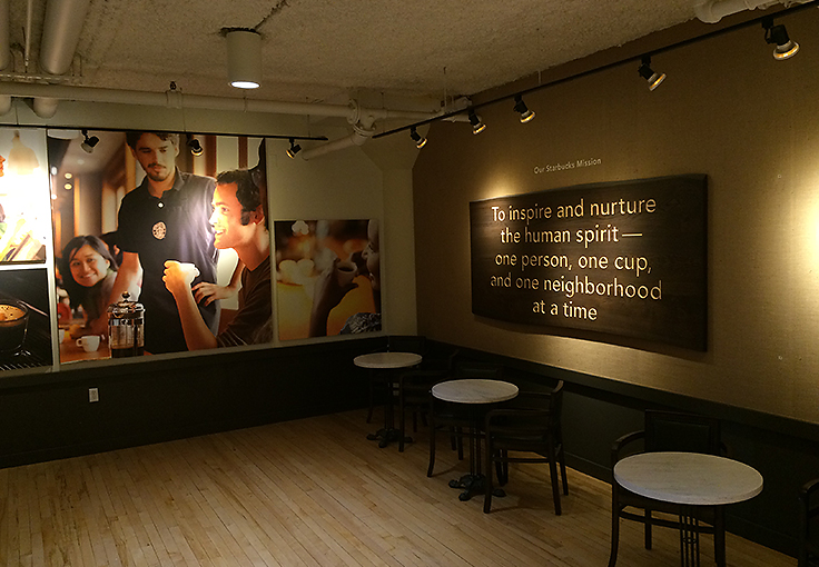 In-House brand presentation at Starbucks Corporate Facilities in SODO Seattle