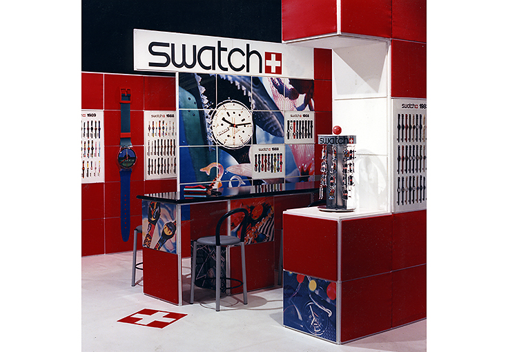 Trade show exhibit for Swatch Watch USA